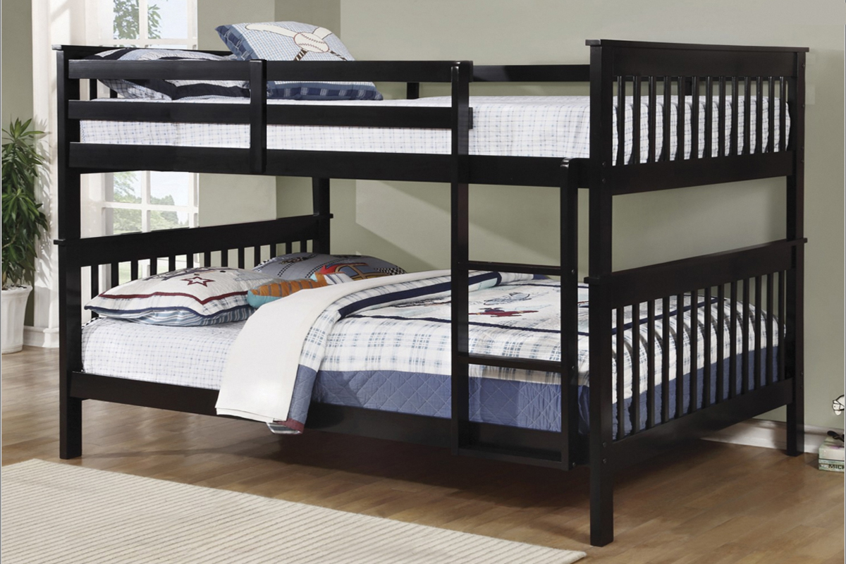 Picture of: T2502 Double Double Bunk Bed Espresso Mattress Mall